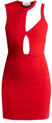 Esteban Cortazar Asymmetric Cut Out Knit Mini Dress - Womens - Red