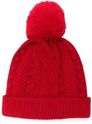 Oscar de la Renta Kids cable knit beanie