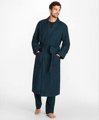 Brooks Brothers Black Watch Flannel Robe