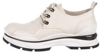 Louis Vuitton Leather Flatform Ankle Boots