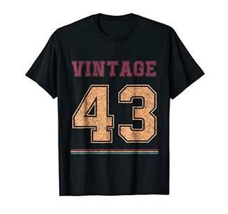 Vintage t shirt Born in 1943 Birthday Gift Retro Shirt