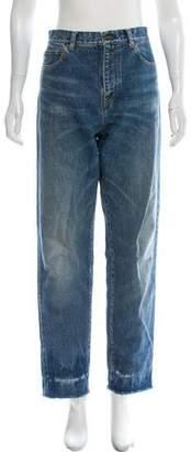 Saint Laurent Distressed High-Rise Jeans