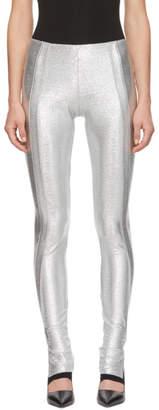 Paco Rabanne Silver Lurex Leggings