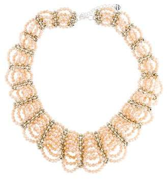 Nakamol Crystal Bead Multistrand Collar Necklace
