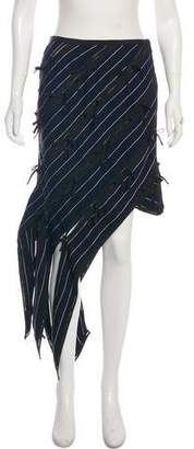 Self-Portrait Bow-Accented Striped Skirt w/ Tags