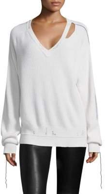 Helmut Lang Distressed Cutout Sweater