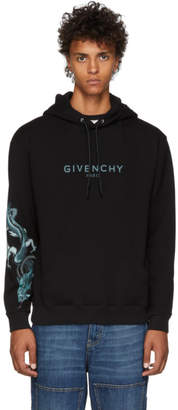 Givenchy Black Dragon Capricorn Logo Hoodie