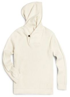 Boy's Waffle-Knit Thermal Hoodie $98 thestylecure.com
