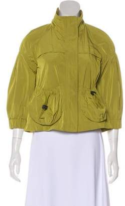 Burberry Stand Collar Casual Jacket