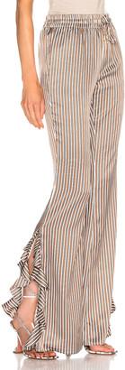 Caroline Constas Side Ruffle Pant in Camel | FWRD