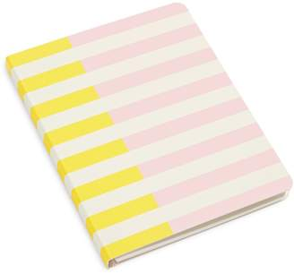 Kate Spade Two-Tone Stripe Concealed Spiral Notebook