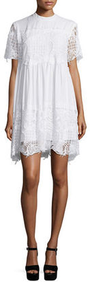Kendall + Kylie Short-Sleeve Lace Babydoll Dress $133 thestylecure.com