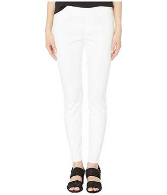 Eileen Fisher Petite Garment-Dyed Stretch Denim Jegging in White