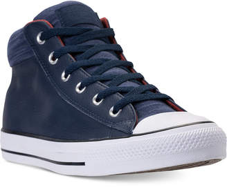 Converse Men's Chuck Taylor All Star Street Mid Leather Casual Sneakers from Finish Line