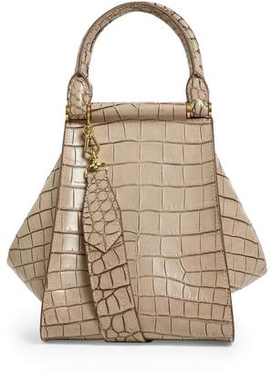 Max Mara Small Croc-Embossed Structured Bag