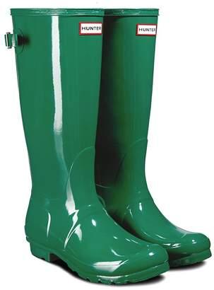 Hunter Adjustable Back Gloss Waterproof Rain Boot