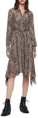 AllSaints Lizzy Patch Shirt Dress
