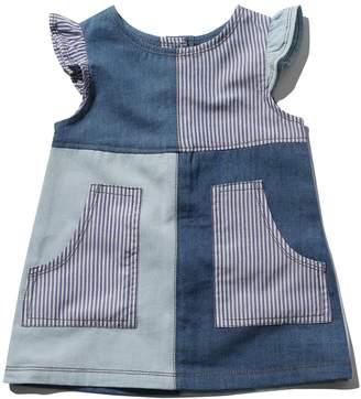 M&Co Denim patch frill sleeve dress