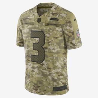 Nike NFL Seattle Seahawks Salute to Service Limited Jersey (Russell Wilson) Men's Football Jersey