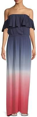 Young Fabulous & Broke Women's Ayana Off-The-Shoulder Ombre Maxi Dress