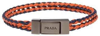 Prada Braided leather wrist strap