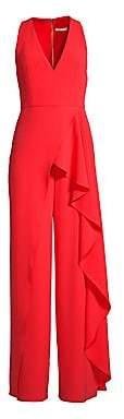 Alice + Olivia Women's Maxie Ruffle Detail Jumpsuit - Size 0