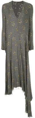 Zambesi frayed hem floral long dress