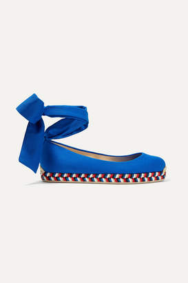 Christian Louboutin Barbaria Canvas Espadrilles - Bright blue