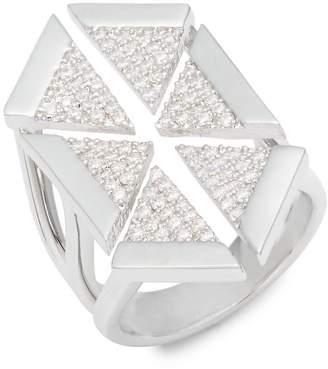 Noir Women's Multi-Triangle Cubic Zirconia Ring