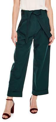 Sandro Windsor Tartan Wide-Legged Pants