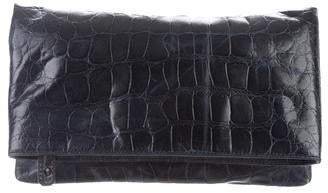 Alice + Olivia Embossed Leather Clutch