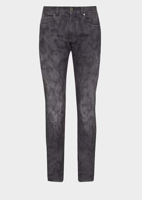 Versace Skinny Fit Camo Jeans
