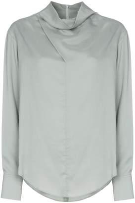 Low Classic cowl-neck blouse