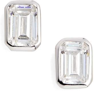 Lafonn Bezel-Set Emerald Cut Stud Earrings