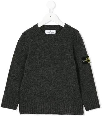 Stone Island Junior logo patch pullover