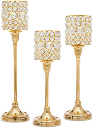 Godinger Lighting by Design 3-Pc. Crystal Taper Candlestick Set