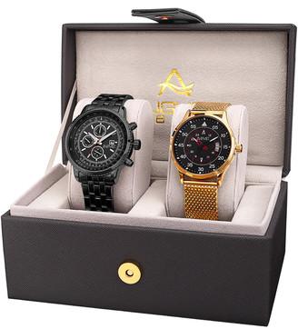 August Steiner Men's Set Of 2 Watches