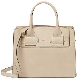 Furla Leather Box Satchel