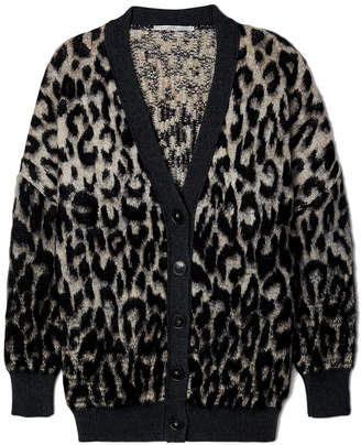 Stella McCartney Leopard V-Neck Cardigan