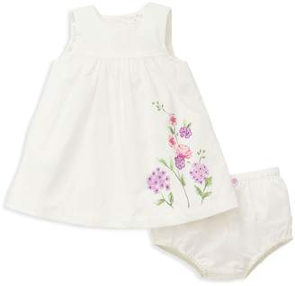 Offspring Girls' Floral-Print Dress & Bloomers Set