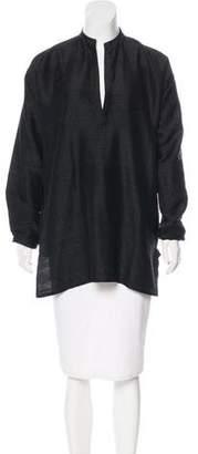 Denis Colomb Long Sleeve Silk Top