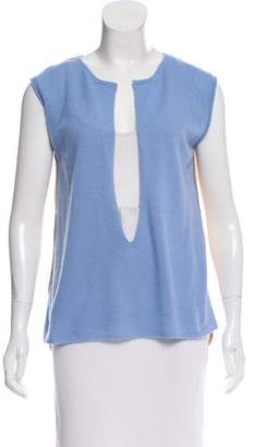 Reed Krakoff Sleeveless Contrasted Top