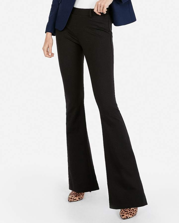 Express Mid Rise Pull-On Flare Pant