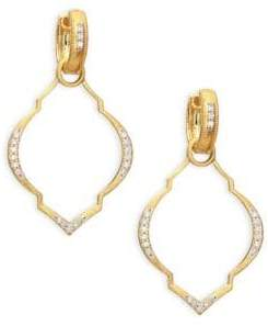 Jude Frances Casablanca Moroccan Diamond& 18K Yellow Gold Earring Charm Frames