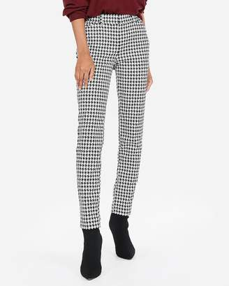Express Mid Rise Houndstooth Skinny Pant
