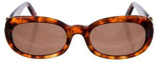 Cartier Gold-Plated Tortoiseshell Sunglasses