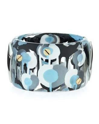 Alexis Bittar Poppy-Print Lucite Hinge Bracelet $295 thestylecure.com