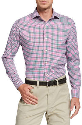 Peter Millar Men's Crown Crafted Check Sport Shirt