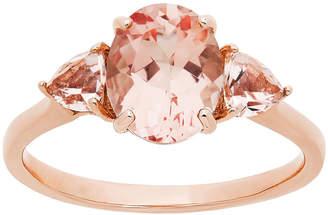 FINE JEWELRY Modern Bride Gemstone Womens Genuine Pink Morganite & 1/6 CT. T.W. Diamond 10K Rose Gold Bridal Set