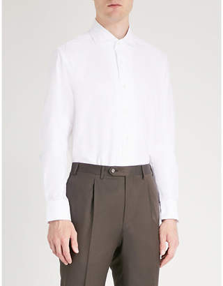 Corneliani Regular-fit cotton and silk-blend shirt